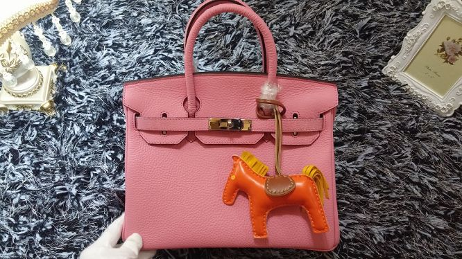 Hermes Birkin 30CM tote bags litchi leather H30 cherry