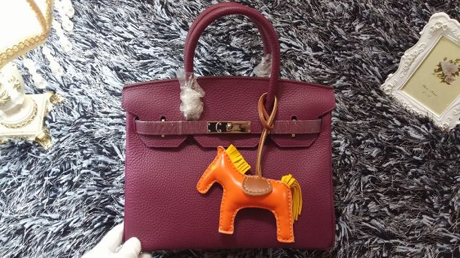 Hermes Birkin 30CM tote bags litchi leather H30 purple