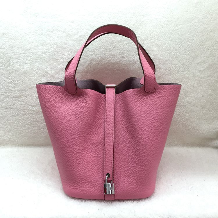 bb040ad7adec ... black clemence leather picotin lock gm bag 3fc14 661b9 france hermes  picotin lock 22cm bags togo leather 1048 pink 64b71 fd411 ...