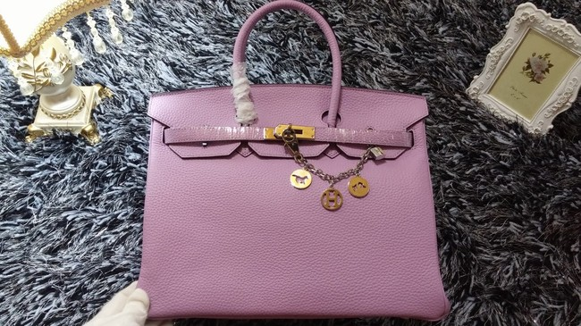 808516e5ccdd Hermes Birkin 35cm tote bag litchi leather H35 light purple