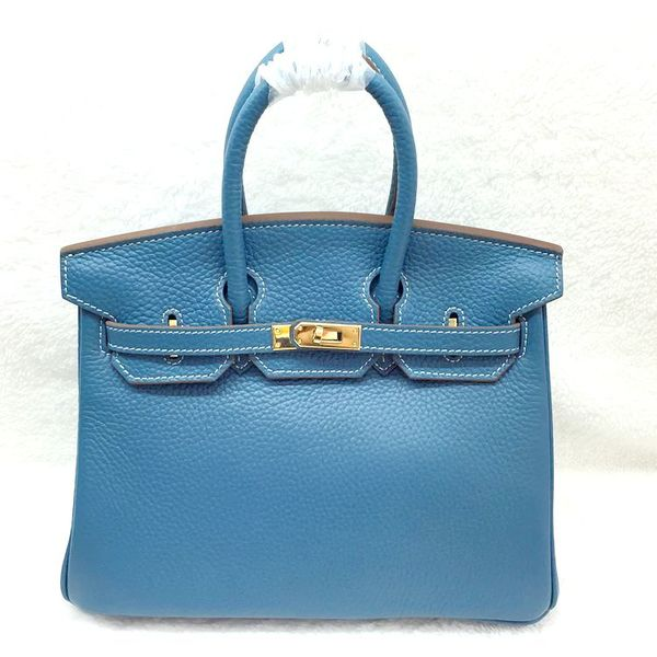 Hermes Birkin 25CM Tote Bag Original Leather H25 Blue
