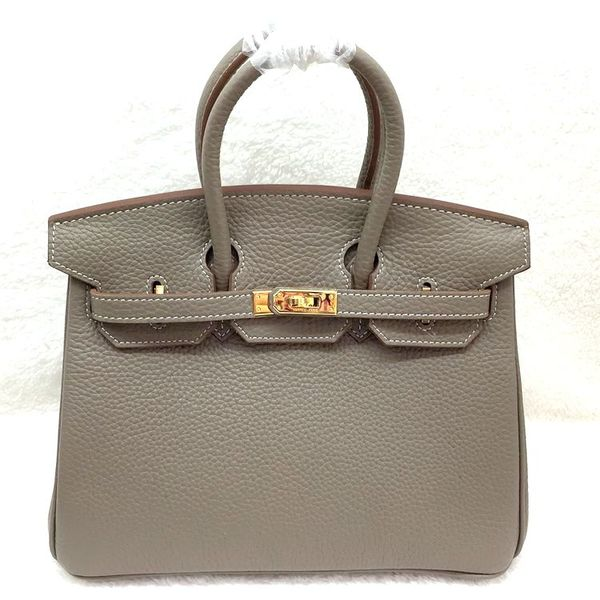 Hermes Birkin 25CM Tote Bag Original Leather H25 Gray