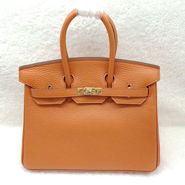 Hermes Birkin 25CM Tote Bag Original Leather H25 Orange