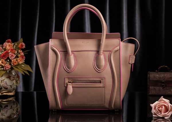 Celine Luggage Tote Bag Original Leather 3308 Light Pink