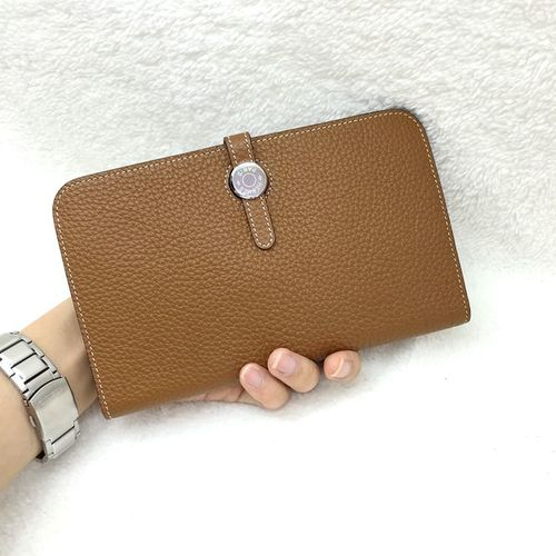 Hermes wallet original litchi leather A508 wheat
