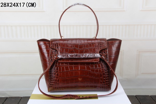 Celine Belt Bag Croco Leather 3368 Coffee
