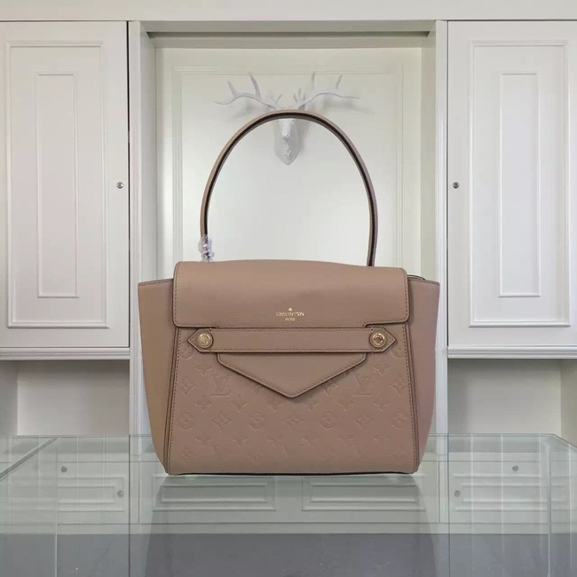 Louis Vuitton original leather embossing tote bag 50438 pink