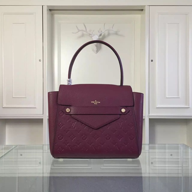 Louis Vuitton original leather embossing tote bag 50438 purple