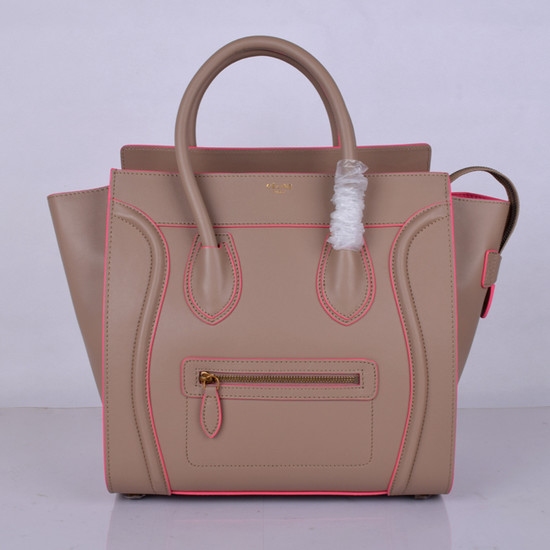 Celine Luggage Tote Bag Original Leather 8802-2 Light Pink