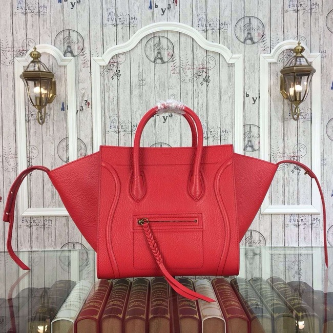 Celine Luggage Phantom Bags Original Leather 9901-2 Red