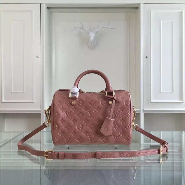 Louis Vuitton Monogram Empreinte 25CM Tote Bag M91337 Light Pink
