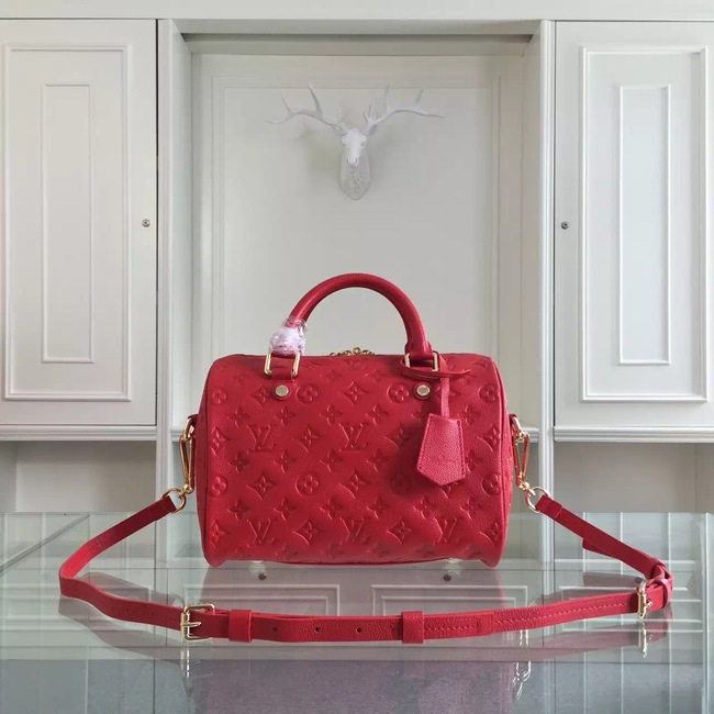 Louis Vuitton Monogram Empreinte 25CM Tote Bag M91337 Red