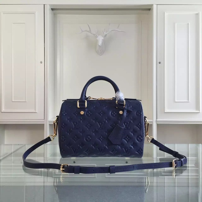 Louis Vuitton Monogram Empreinte 25CM Tote Bag M91337 Royal Blue
