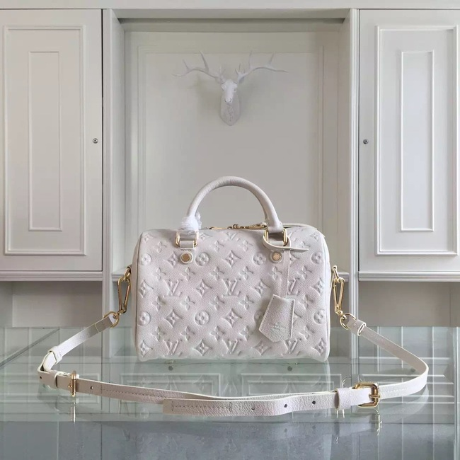 Louis Vuitton Monogram Empreinte 25CM Tote Bag M91337 White