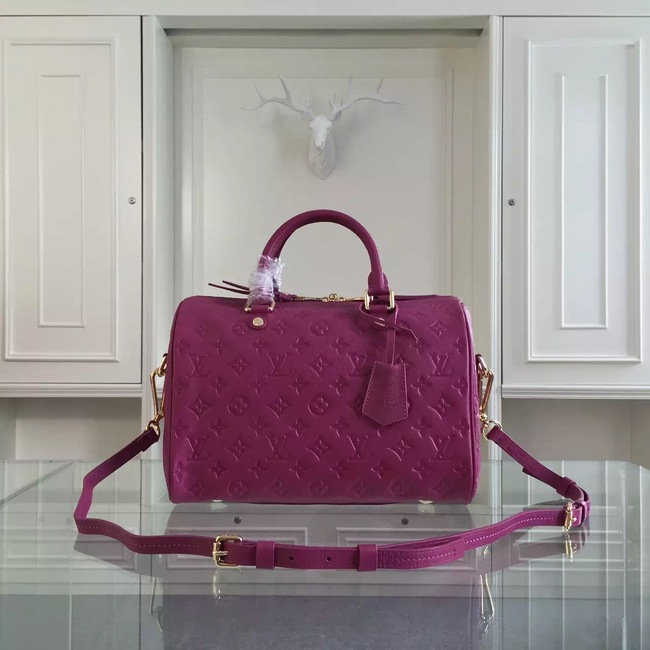 Louis Vuitton Monogram Empreinte 30CM Tote Bag M91330 Purple