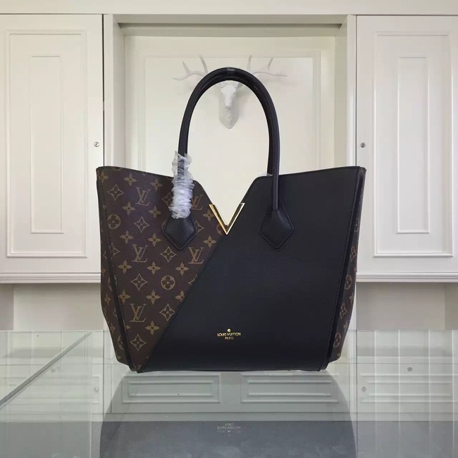 Louis Vuitton Monogram Canvas KIMONO Tote Bag 40460 Black