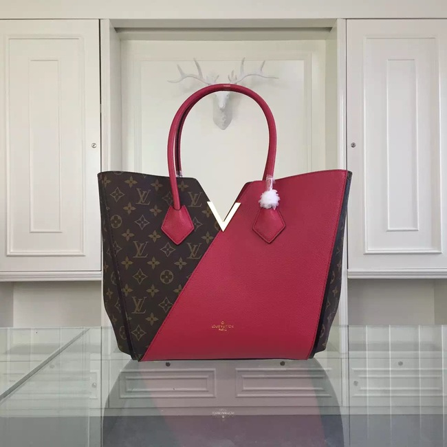 Louis Vuitton Monogram Canvas KIMONO Tote Bag 40460 Burgundy