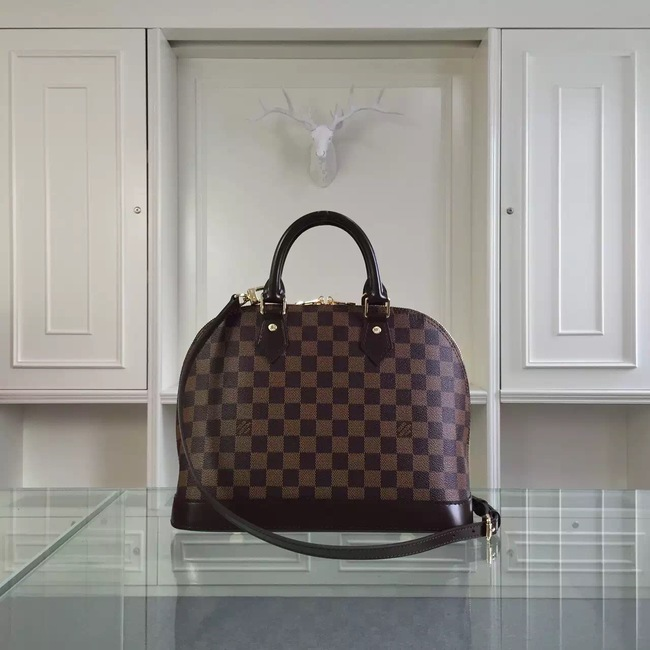 Louis Vuitton Damier Ebene Canvas ALMA MM Bag M41247