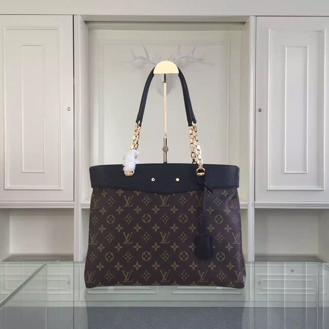 Louis Vuitton Monogram Canvas Pallas Shopper M51197 Black