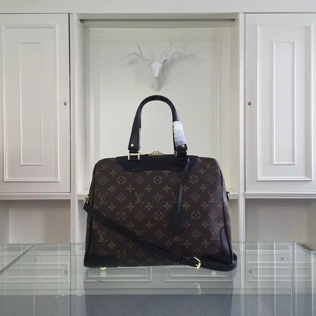 Louis Vuitton Monogram Canvas Retiro NM M50057 Black