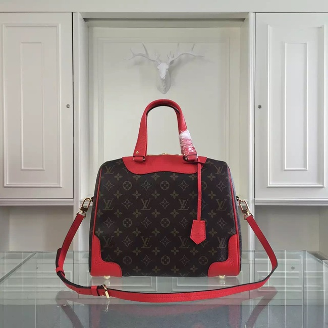Louis Vuitton Monogram Canvas Retiro NM M50057 Red