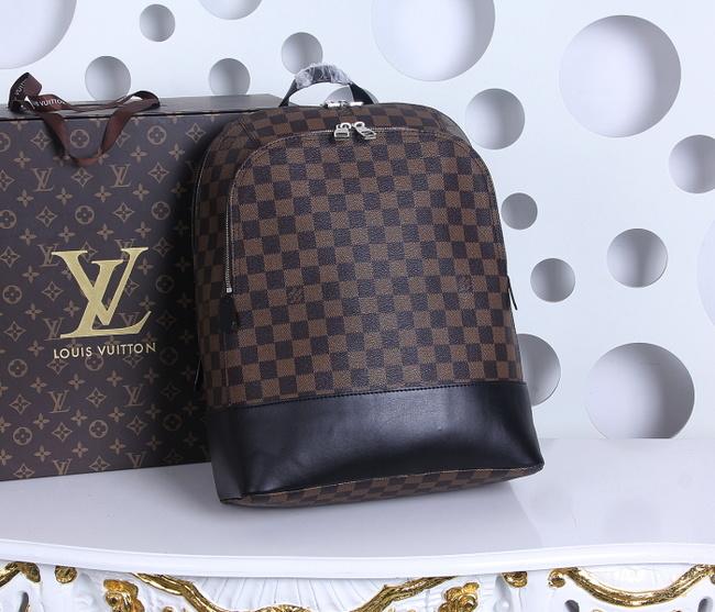 2fd71c50549 Louis Vuitton Damier Ebene Graphite Jake Backpack 41558 Coffee -  238.00