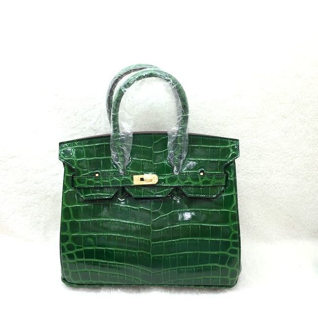 Hermes Birkin 25CM Tote Bag Croco Leather H8096 Green