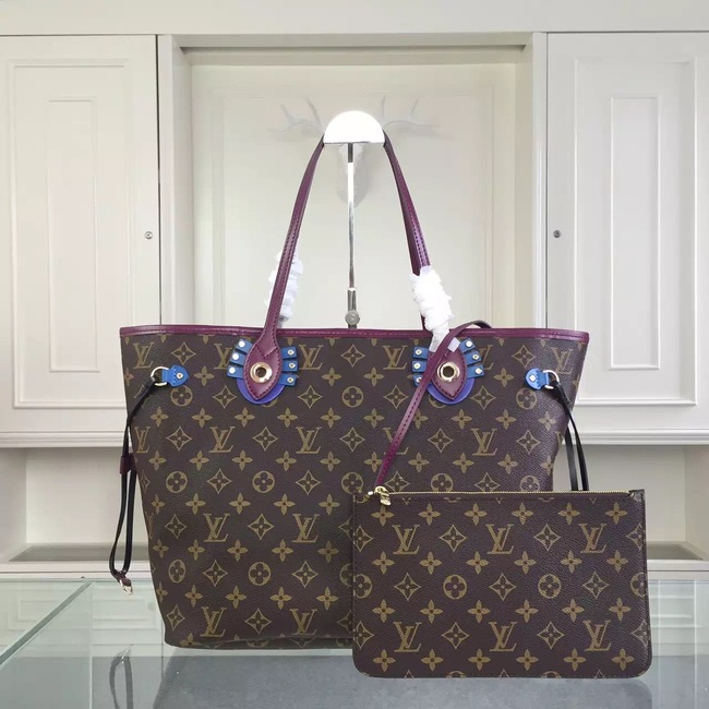 Louis Vuitton Monogram Canvas NEVERFULL MM 41663 Purple
