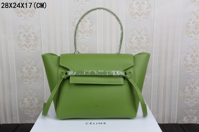 2015 celine belt tote bag in smooth calfskin 3368-1 green