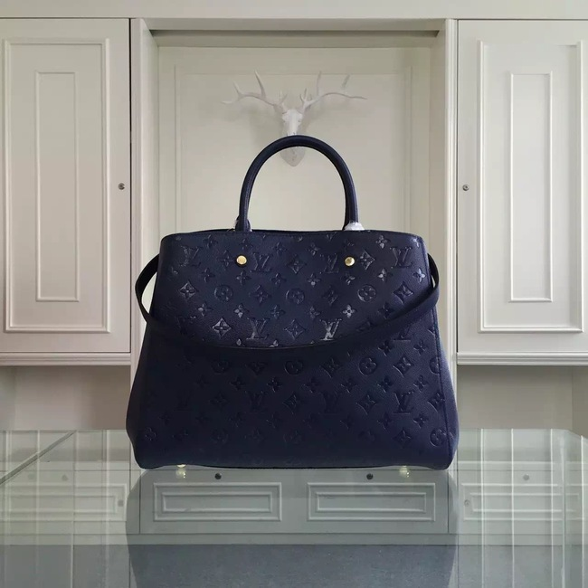 Louis Vuitton Monogram Empreinte Montaigne GM M41059 Deep Blue