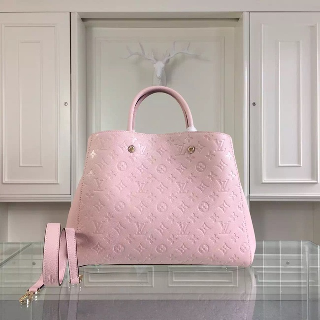 Louis Vuitton Monogram Empreinte Montaigne GM M41059 pink