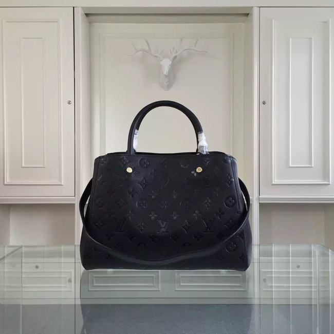 Louis Vuitton Monogram Empreinte Montaigne MM 41060 black