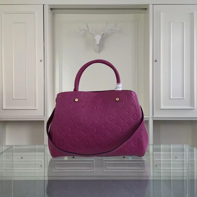 Louis Vuitton Monogram Empreinte Montaigne MM 41060 purple