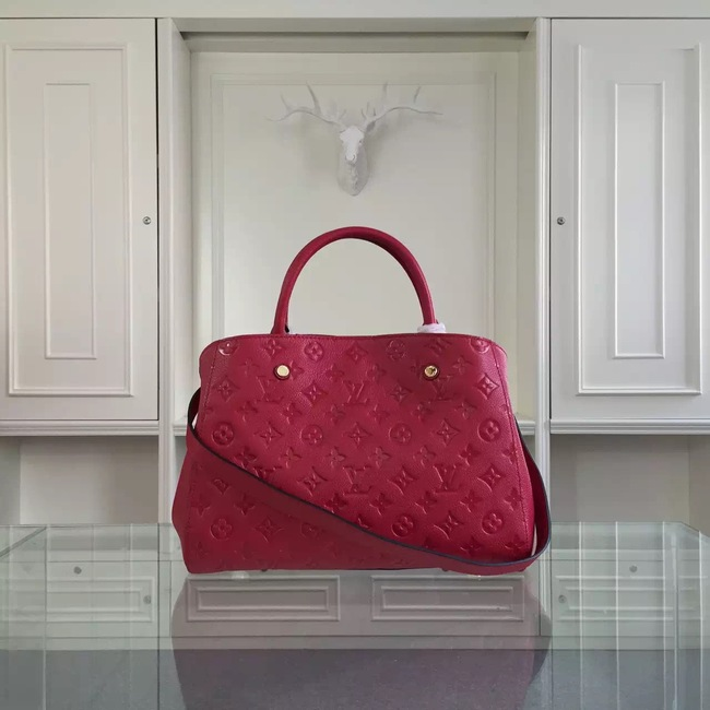 Louis Vuitton Monogram Empreinte Montaigne MM  41060 red