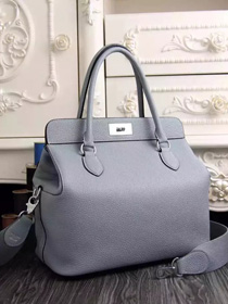2016 hermes original leather toolbox handbag 3069 light blue