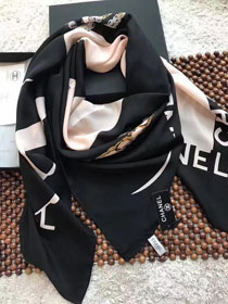 2017 top quality cc scarf C0028 black/pink