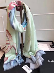 2017 top quality cc scarf C0029 green/rose