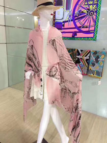 2017 top quality cc scarf C0033 pink/grey