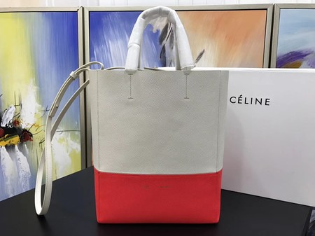 Celine CABAS Tote Bag 3365 Apricot with red