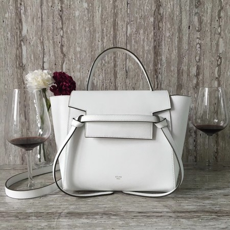 Celine BELT BAG MINI Tote Bag 98310 white