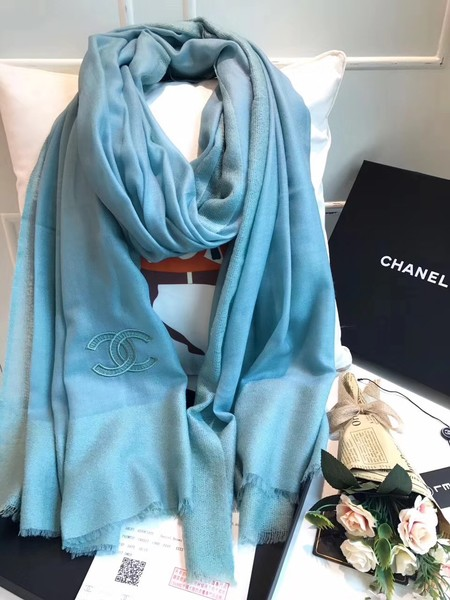 2017 top quality Chanel scarf A2836 Light blue