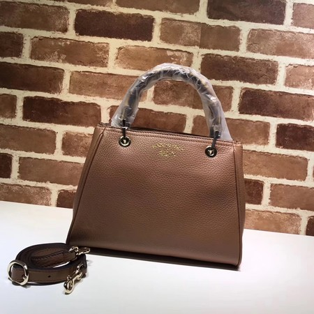 Gucci Bamboo Shopper Tote Bag Calfskin Leather 336032 brown