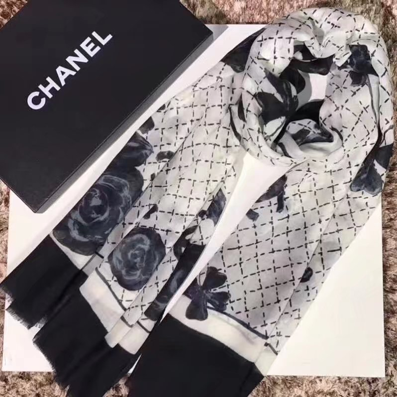 top quality Chanel scarf C919268 WHITE