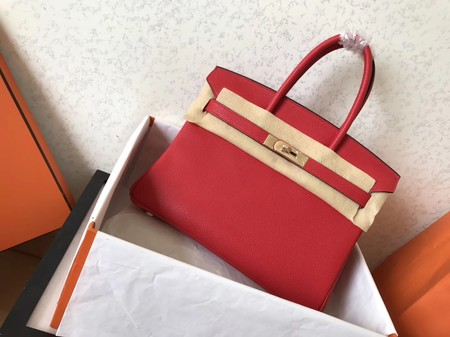 Hermes Birkin 35CM Tote Bag Original Togo Leather BK35 red