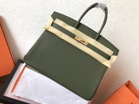 Hermes Birkin 35CM Tote Bag Original Togo Leather BK35 green