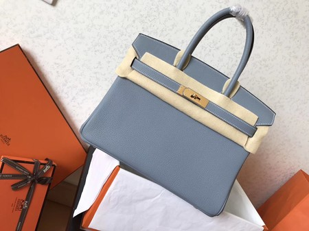 Hermes Birkin 35CM Tote Bag Original Togo Leather BK35 Sky blue