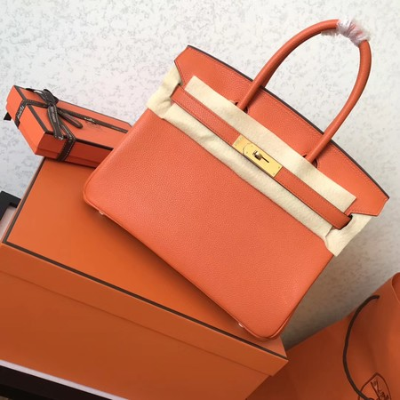 Hermes Birkin 35CM Tote Bag Original Togo Leather BK35 orange