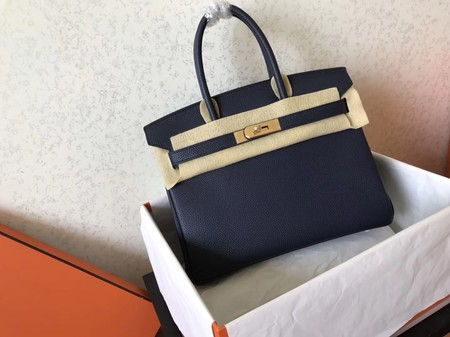 Hermes Birkin 35CM Tote Bag Original Togo Leather BK35 Dark blue