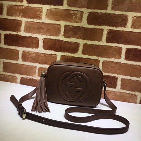 Gucci Soho small leather disco bag 308364 Brown