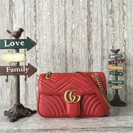 Gucci GG Marmont Shoulder Bag 443497 red